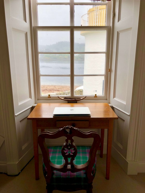 Study / reading room with views of lighthouse - upstairs, east side